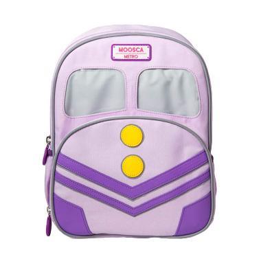 Moosca Kids Train Backpack Tas Ransel Anak - Lilac Snow