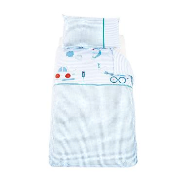 Mothercare 809389 Little Beep Beep  ... and Pillowcase Set - Biru