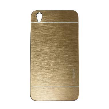 Motomo Hardcase Casing for Oppo F1 Plus R9 - Gold