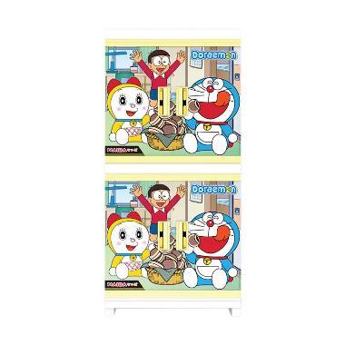 Naiba Rak Baju Plastik Doraemon 4674 XB - Biru