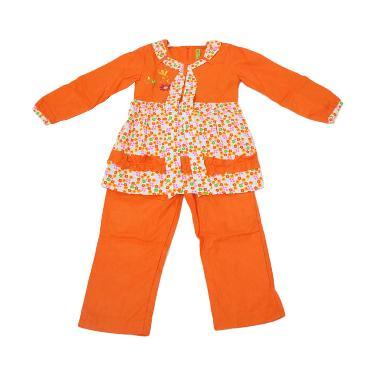 Namuslimah Kecil CMB-5 Baju Muslim Anak - Orange