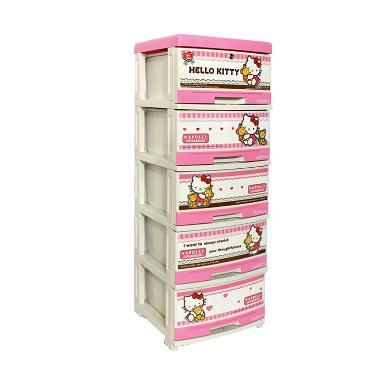 Napolly Lemari Plastik 5 Susun Hello Kitty [khusus jabodetabek]