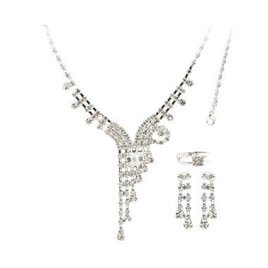 Nataria 33511 - Necklace with Bracelet, Ring & Earing Set Perhiasan