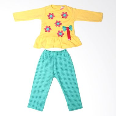 Nathanie Baby Peplum Flower Yellow  ...