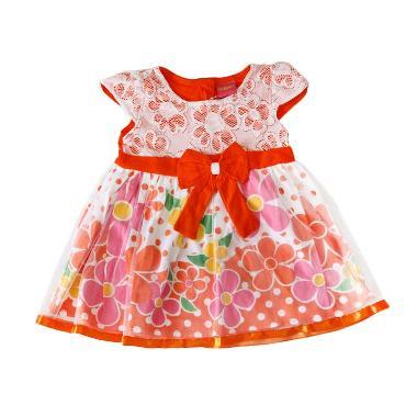 Nathanie Baby Garden Dress Anak - Orange