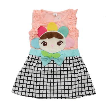 Nathanie Sweet Candy Dress Anak - Peach