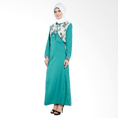 Jual Naura Winatra Gamis 81521720 Green Baju Muslim Online