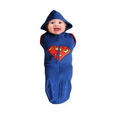 Nea Orange Superman Blue Red Bedong Instan Baby