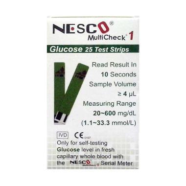 harga Nesco Multicheck 1 Strips Gula Darah Alat Monitor Kesehatan Green Blibli.com