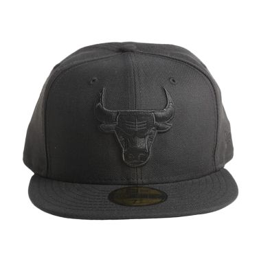 New Era NBA Chicago Bulls 59FIFTY Hitam Topi Basket (70011754)