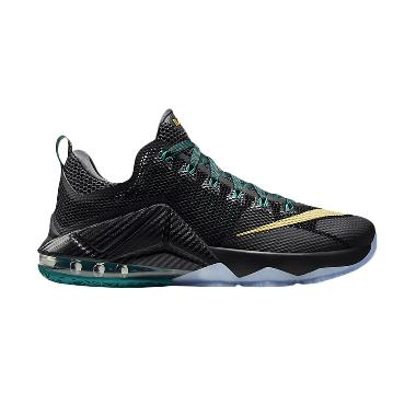 Nike Lebron XII Low Hitam Sepatu Basket