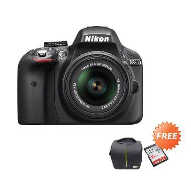Hot Deals - Nikon D3300 18-55mm VR  ... LR + 2 Unit Sandisk 16 GB