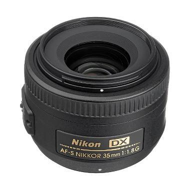 Nikon AF-S DX 35mm F/1.8 G Hitam Lensa Kamera DSLR