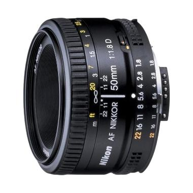 Nikon AF Nikkor 50mm f/1.8D NI Lensa Kamera