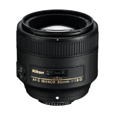 Nikon AF-S Nikkor 85mm f/1.8G Lensa Kamera - Hitam