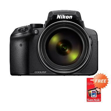 harga Nikon Coolpix P900 Hitam Kamera Pocket [16 MP/83x Optical Zoom] + Free Sandisk SDHC 8 GB Blibli.com