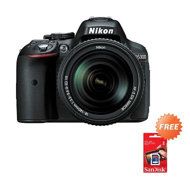 Nikon D5300 Kit 18-140mm VR Kamera  ... Memory 16GB + Screenguard