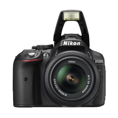 Nikon D5300 Kit 18-55mm VR Hitam DS ... andisk 16GB + Screenguard