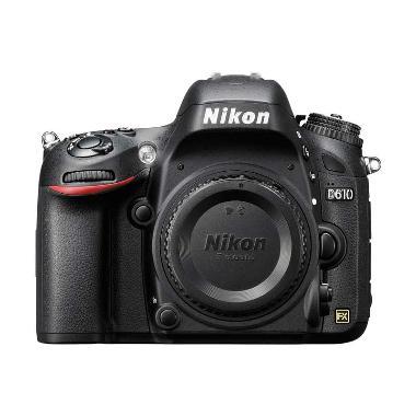 Nikon D610 Body Only Kamera DSLR - Black + Free LCD Screen Guard