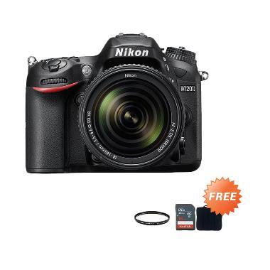 Nikon D7200 Kit AF-P 18-140mm VR + Screen Guard + SDHC 16GB + Filter UV 67mm + Sling Camera Bag