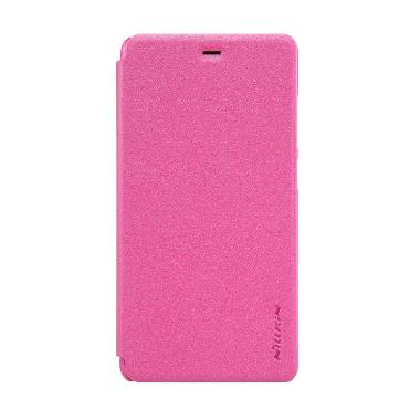 Nillkin Sparkle Flip Cover Casing for Xiaomi Mi4s or Mi 4s - Rose Red