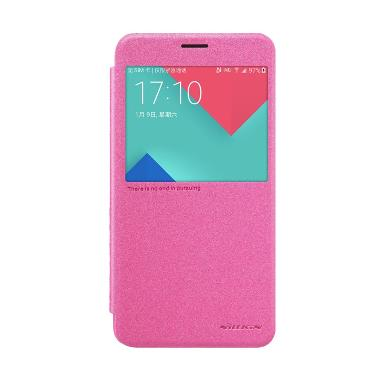 Nillkin Sparkle Leather Casing for Samsung Galaxy A9 or A9000 - Pink