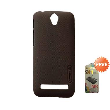 Nillkin Super Frosted Shield Hardcase Casing for Asus Zenfone Go ZC451TG - Coklat + Free Tempered