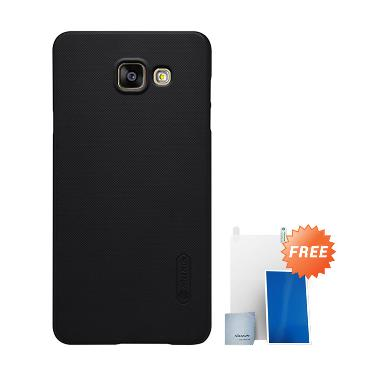 Nillkin Super Frosted Shield Hardcase Casing for Samsung Galaxy A5 2016 or A510 - Black +