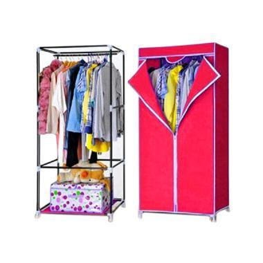 Nine box SW Lemari Baju - Merah