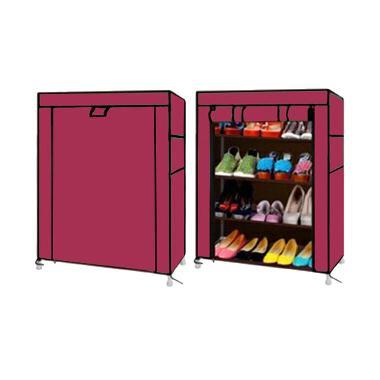 Nine Box Rak Sepatu - Marron [5 cover/4 tingkat]