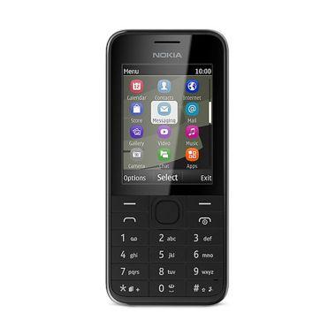 Nokia 208 Handphone - Black [Dual SIM]