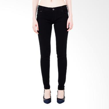 Nuber Soft Jeans Celana Panjang Wanita - Black