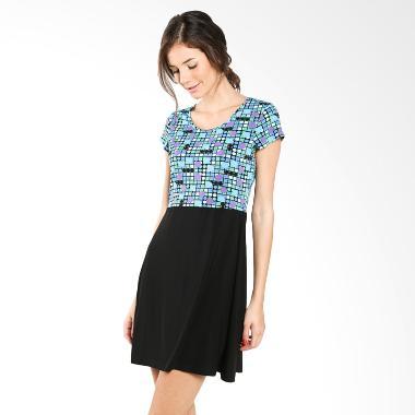 NUlu Cilla NL 786 Blue Black Mini Dress
