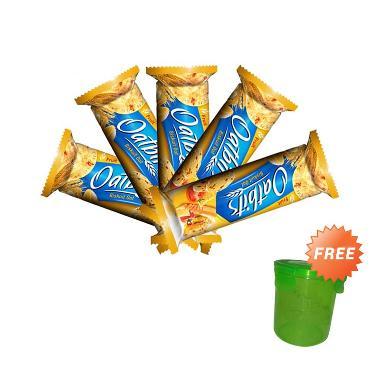 Oatbits Vita Fruits Roll Biskuit [5 Pack] + Free Toples Hijau Mini