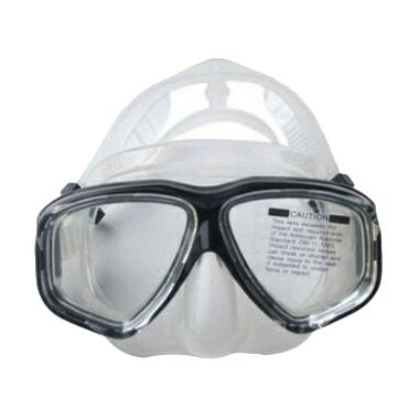 Octo Diving Mask Alat Selam - Hitam Silicone Putih [Minus 8.50]