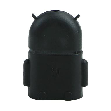 OEM OTG Micro USB Bentuk Robot Android - Hitam