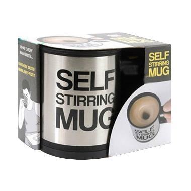 harga GOS Self Stirring Mug Gelas Penggaduk Otomatis / Gelas Mug Kopi Unik Blibli.com