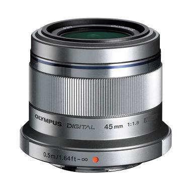 Olympus M. Zuiko Digital ED 45mm f/1.8 Lensa Kamera - Silver
