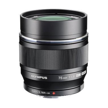 Olympus M.Zuiko Digital ED 75mm f-1.8 Lensa Kamera - Black