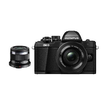 Olympus OMD EM10 MARK II KIT 14-42mm EZ + 45mm F1.8 Kamera Mirrorless