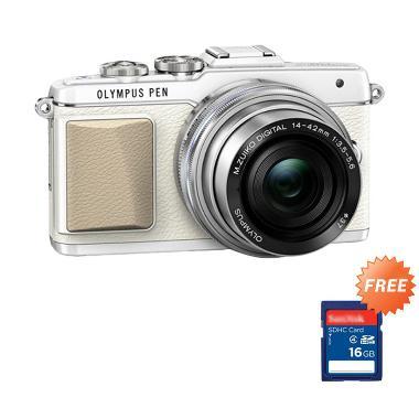 Olympus Pen E-PL7 Kit 14-42mm EZ Kamera Mirrorless - Black + Free Memory Sandisk 16GB + LCD Screen Guard
