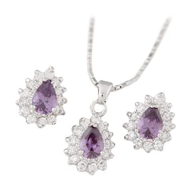 Omomart RKL7021 - Aksesoris Kalung Fashion Zircon Set