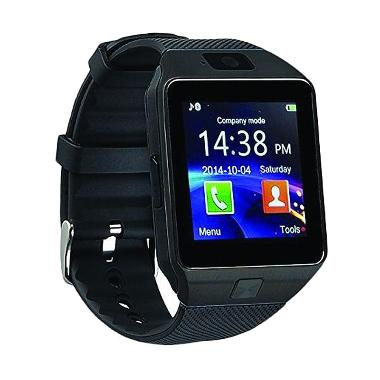 Onix Cognos Dz09 Smartwatch - Full Hitam [Strap Karet-Sim Card]