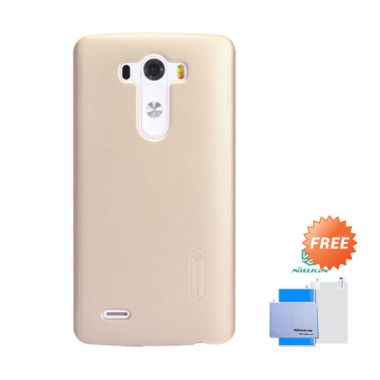 Nillkin Frosted Shield Gold Hardcase Casing for LG G3 + Screen Guard