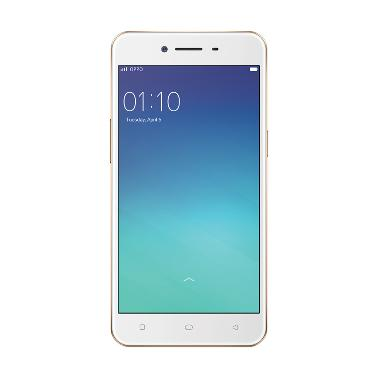 Oppo A37 Smartphone - Gold [16GB/ 2 ... Tempered Glass + Softcase