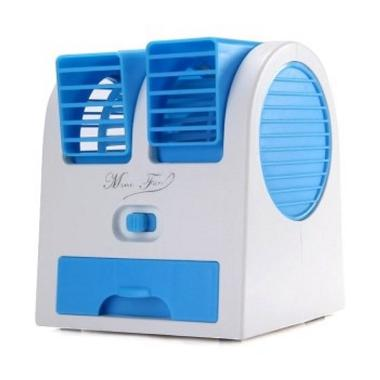 harga Optimuz Air Conditioning Portable Mini Fan - Biru [2 Fan] Blibli.com