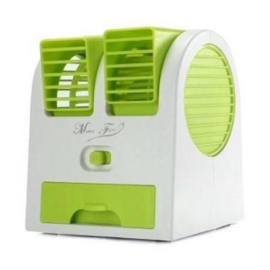 harga Optimuz Air Conditioning Portable Mini Fan - Hijau [2 Fan] Blibli.com