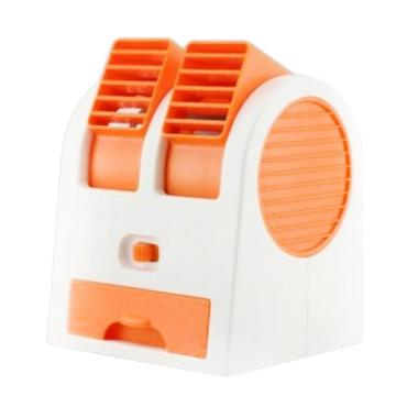 Optimuz Mini Fan Air Conditioning Portable - Jingga [2 Fan]