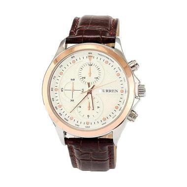 Ormano R-Two Dial Leather Watch Jam Tangan Pria - Coklat Putih. Rp 179,000