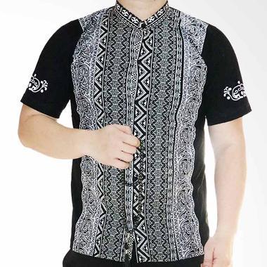 Ormano Pendek Eksklusif N39 Baju Koko Muslim - Hitam
